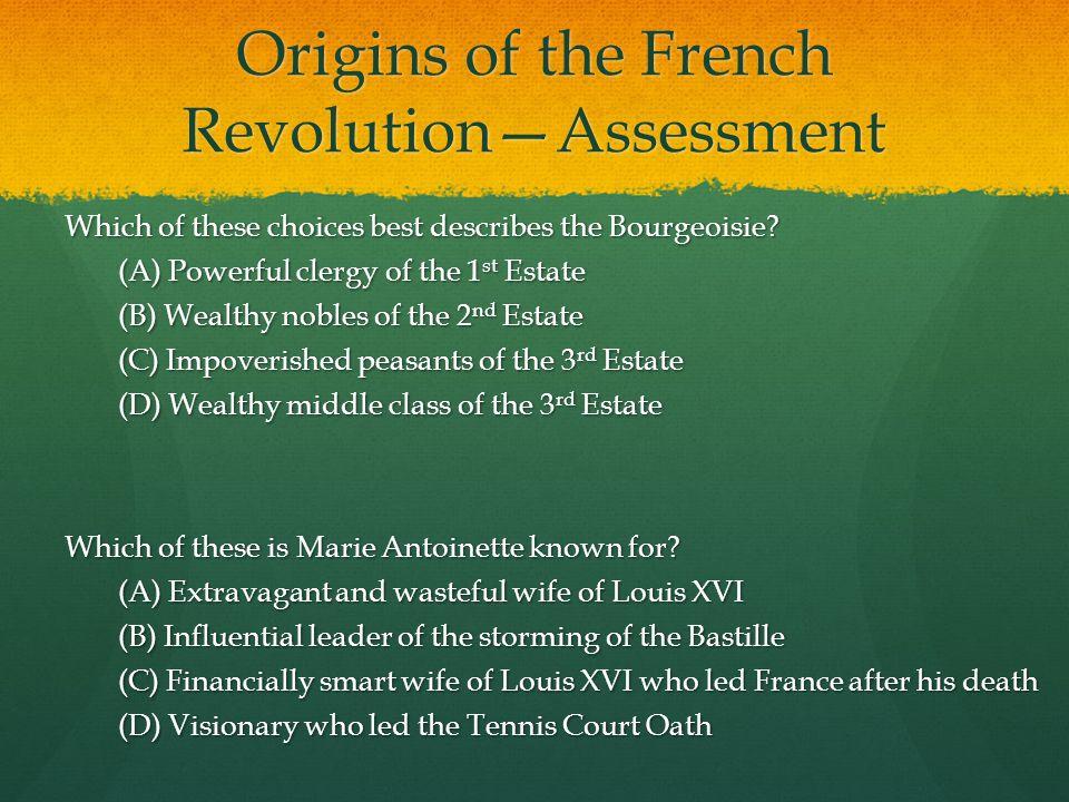 Origins of the French Revolution—Assessment