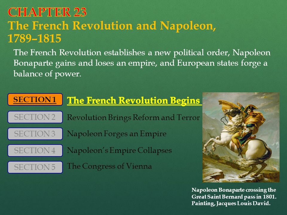 CHAPTER 23 The French Revolution and Napoleon, 1789–1815