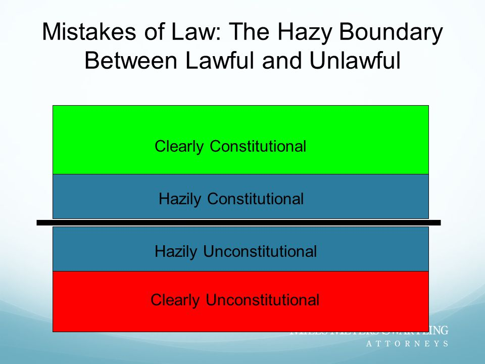 Mistakes of Law: The Hazy Boundary Between Lawful and Unlawful