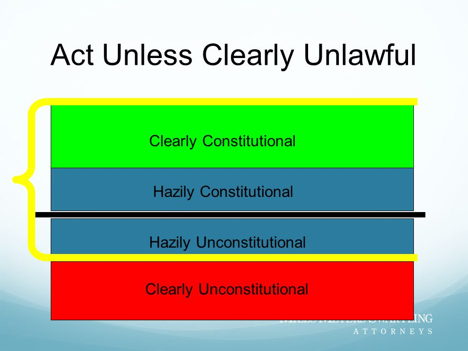 Act Unless Clearly Unlawful