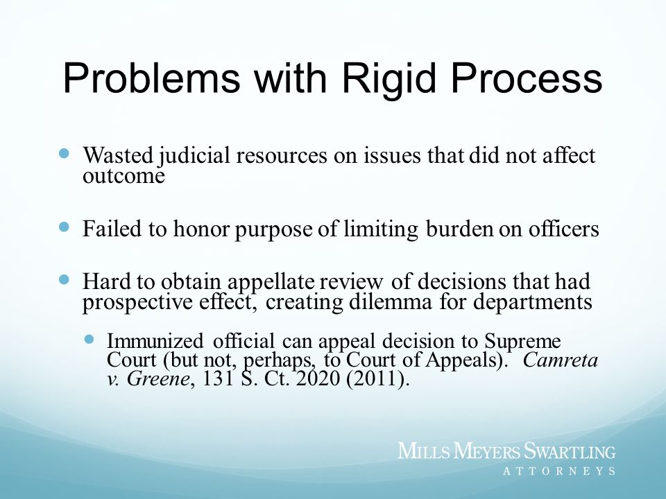 Problems with Rigid Process
