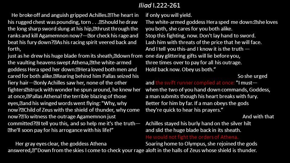 Iliad I.222-261