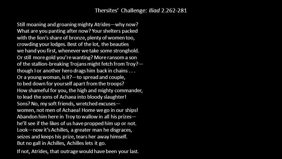 Thersites' Challenge: Iliad 2.262-281