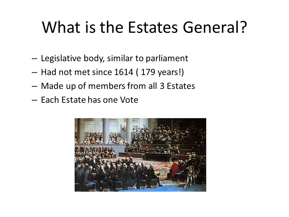 What is the Estates General