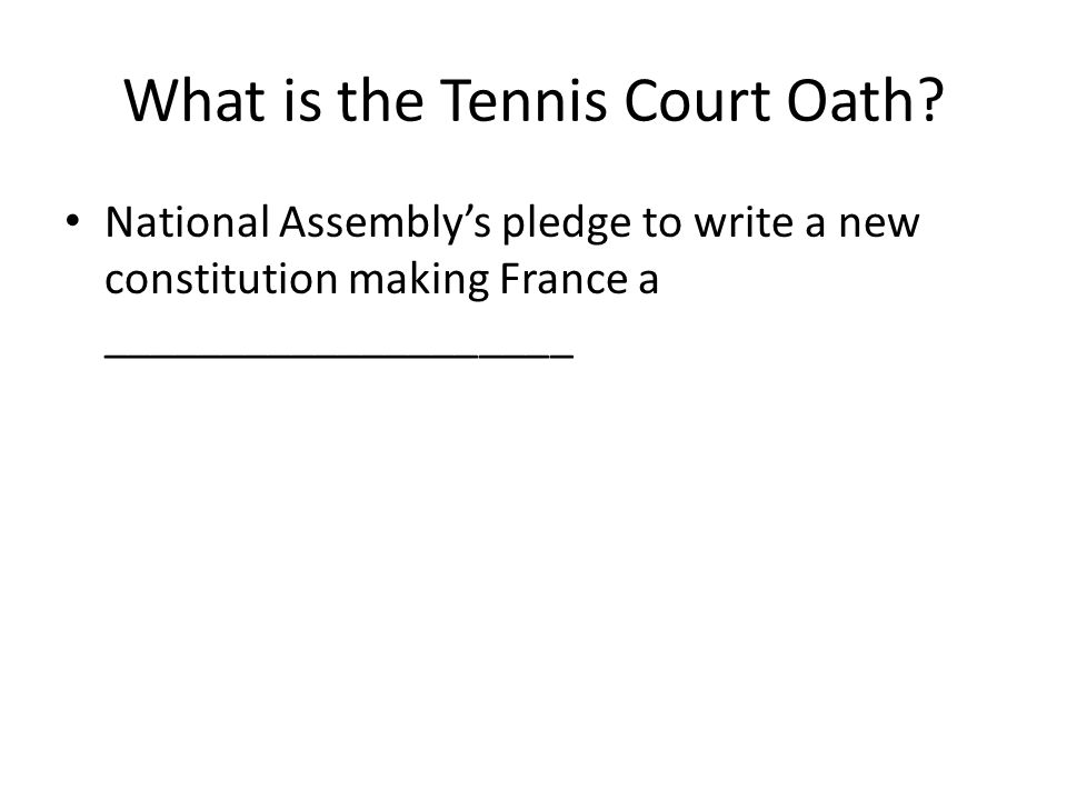 What is the Tennis Court Oath