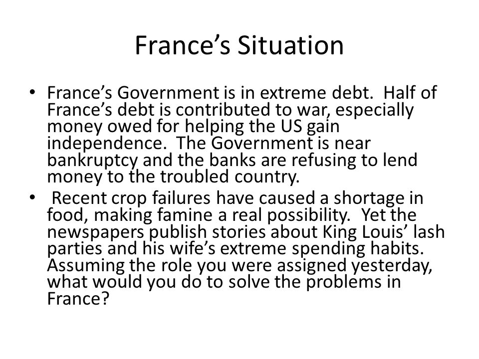 France's Situation