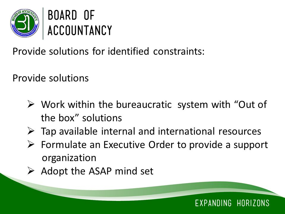 Provide solutions for identified constraints: