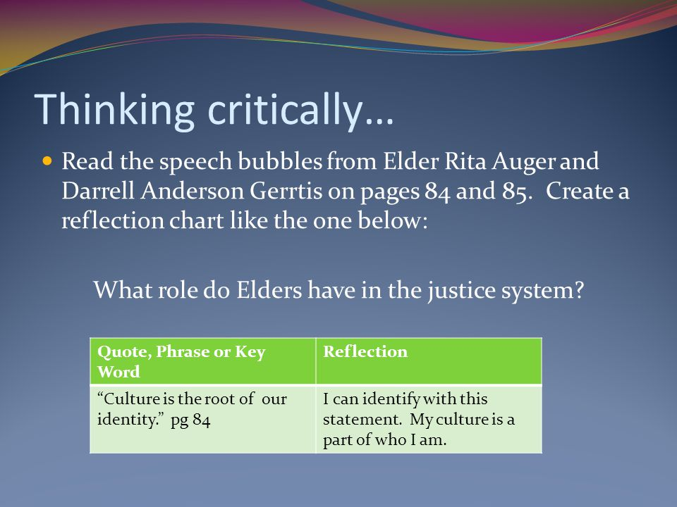 What role do Elders have in the justice system