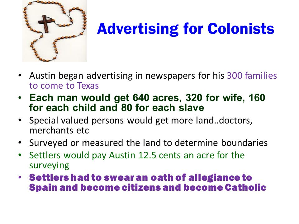 Advertising for Colonists