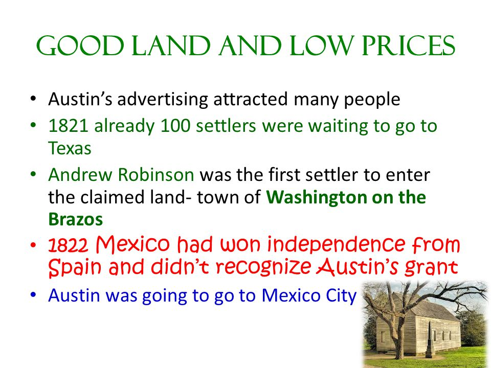 Good Land and Low Prices