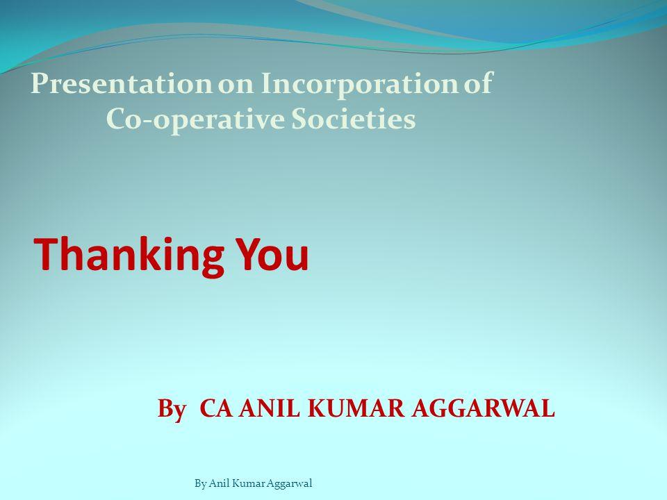 Presentation on Incorporation of Co-operative Societies