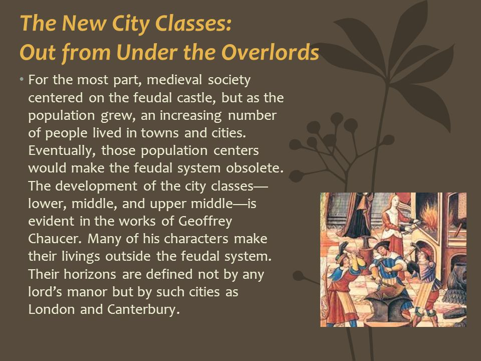 The New City Classes: Out from Under the Overlords