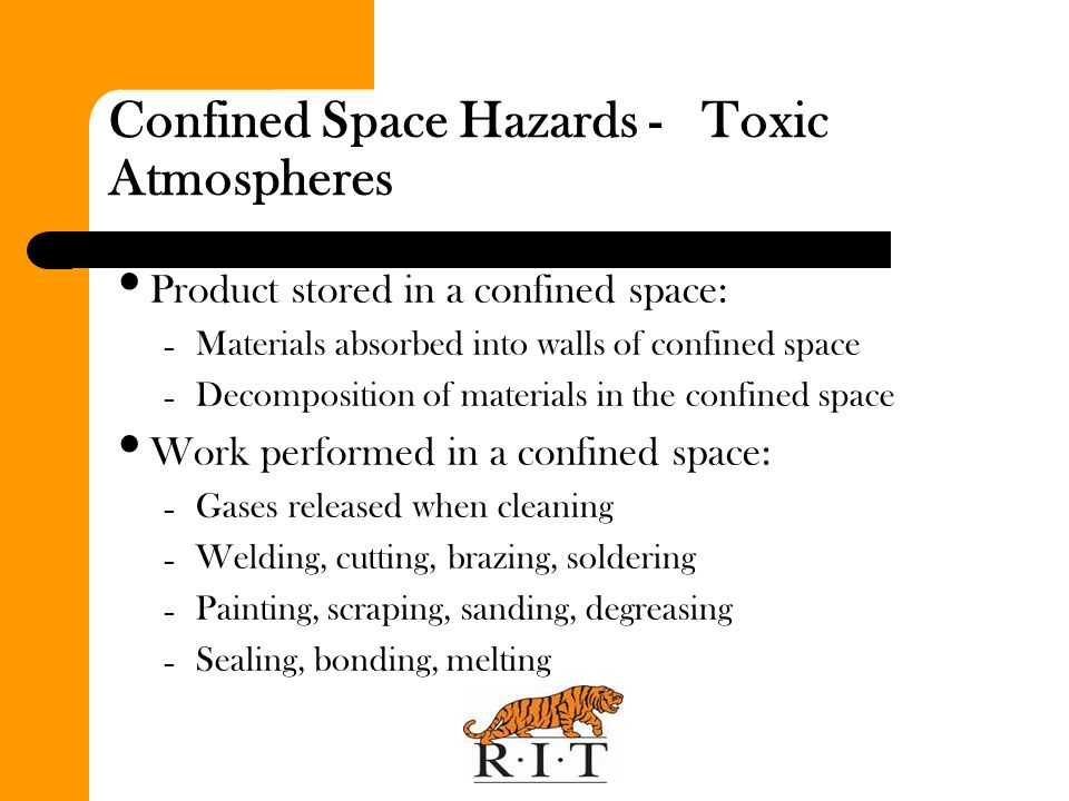 Confined Space Hazards - Toxic Atmospheres