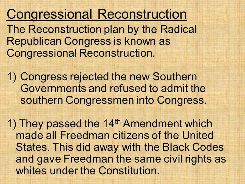 Radical Reconstruction Definition