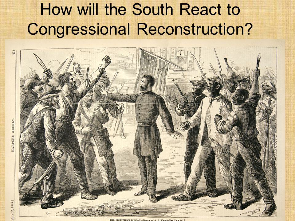 How will the South React to Congressional Reconstruction