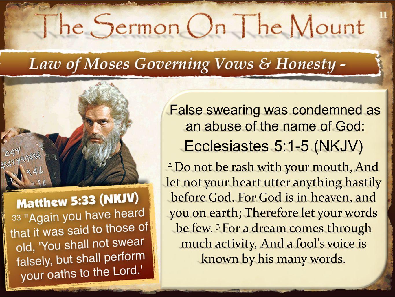 Ecclesiastes 5:1-5 (NKJV)