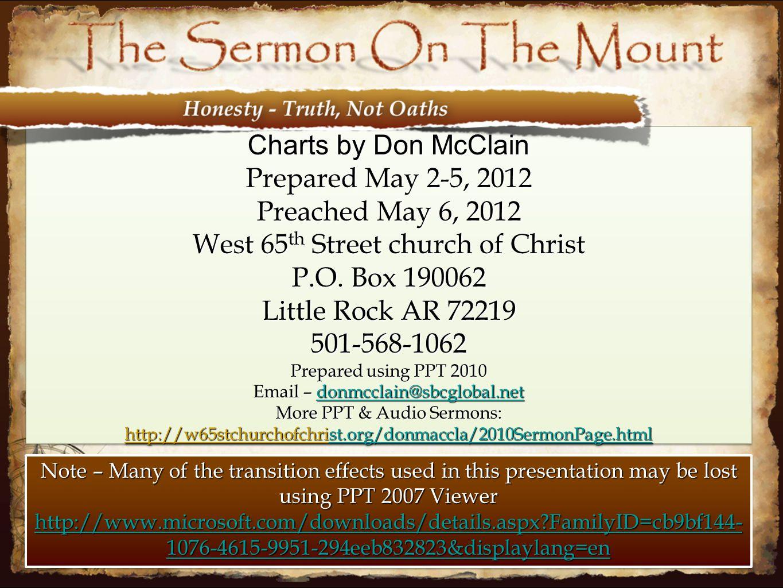 West 65th Street church of Christ P.O. Box 190062 Little Rock AR 72219