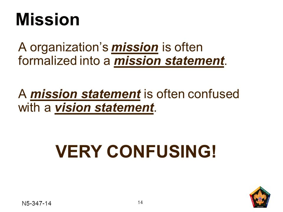 Mission VERY CONFUSING!