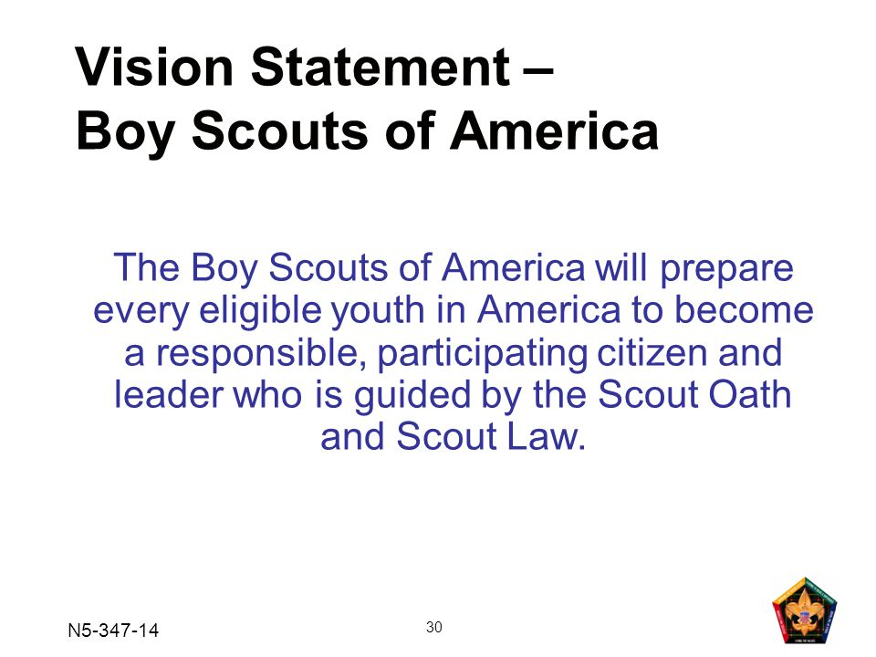 Vision Statement – Boy Scouts of America