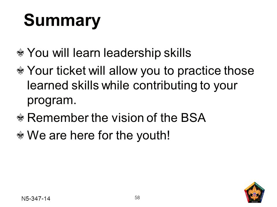 Summary You will learn leadership skills