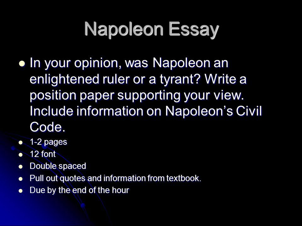 napaleon essay paper Napoleon hill is the most famous conman you've probably never heard of  off  and on, doing my best to research napoleon hill's life without the aid of the  but  from newspaper and court records of the time, we learn that.