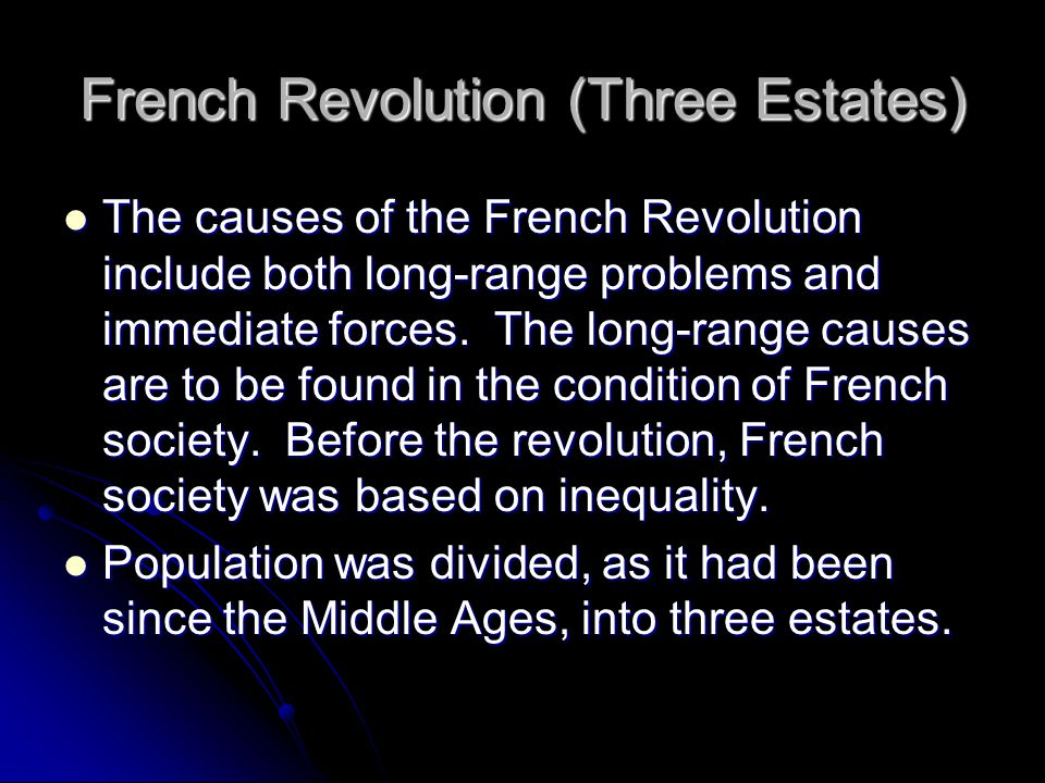 French Revolution (Three Estates)