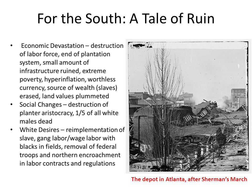 For the South: A Tale of Ruin