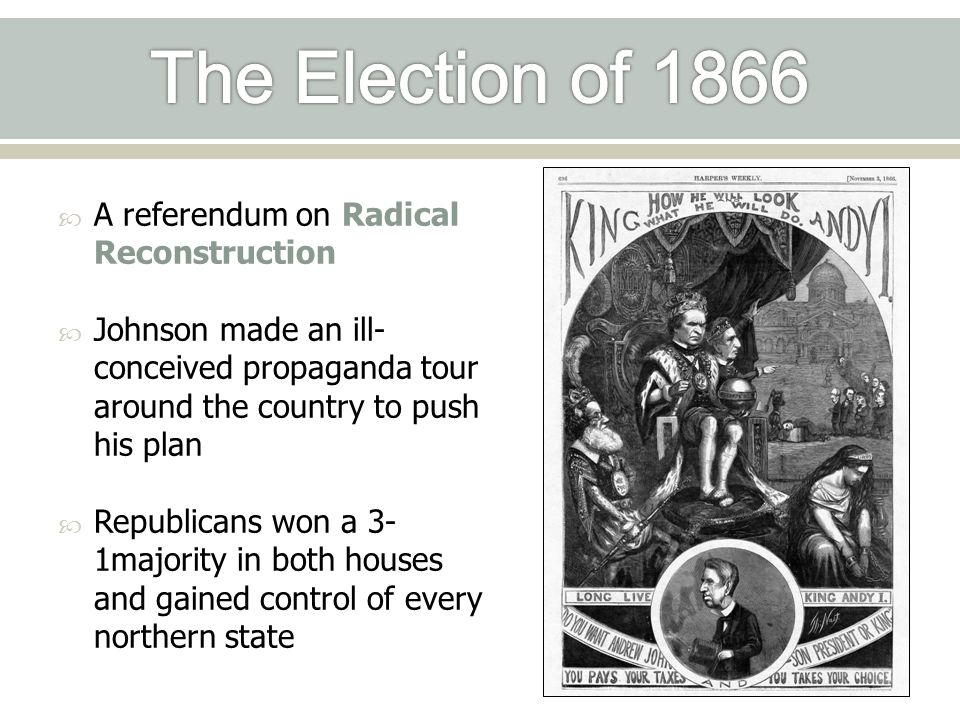The Election of 1866 A referendum on Radical Reconstruction