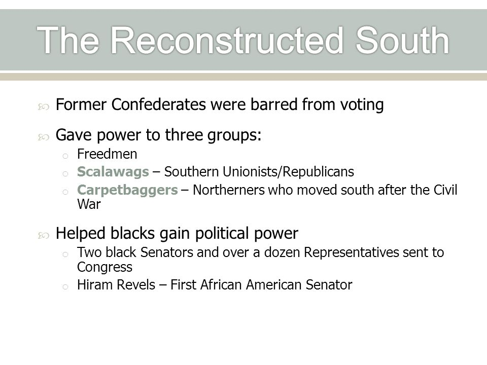 The Reconstructed South