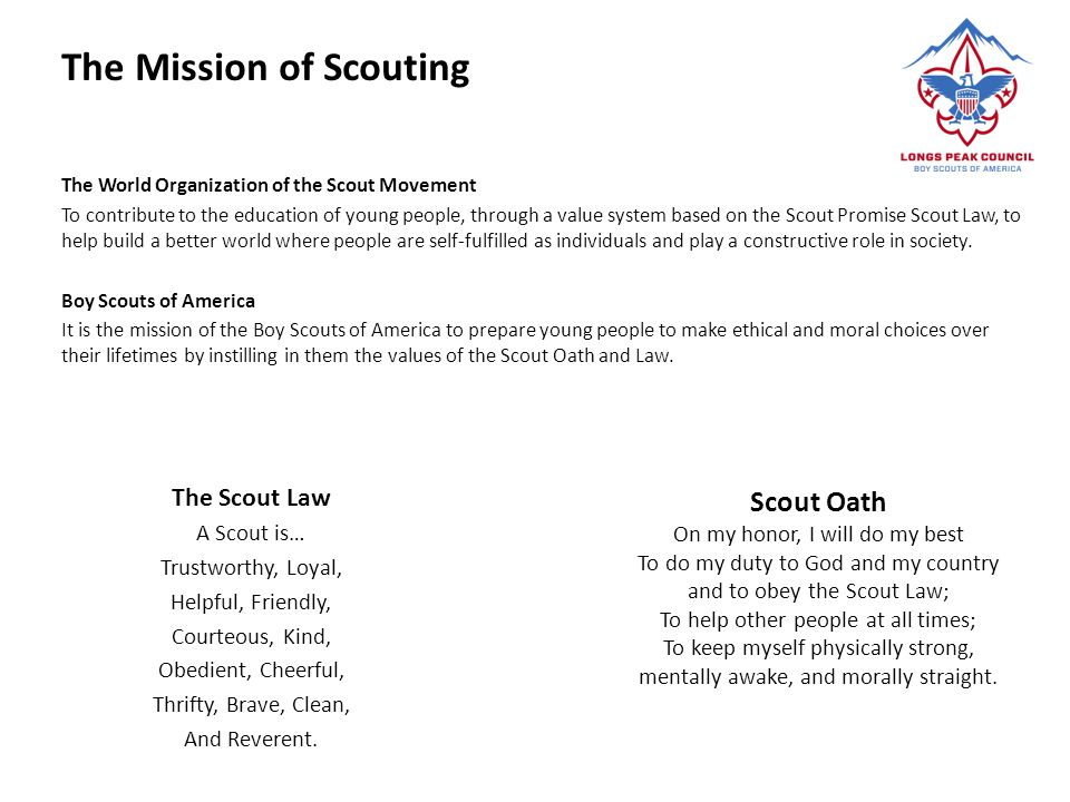 The Mission of Scouting