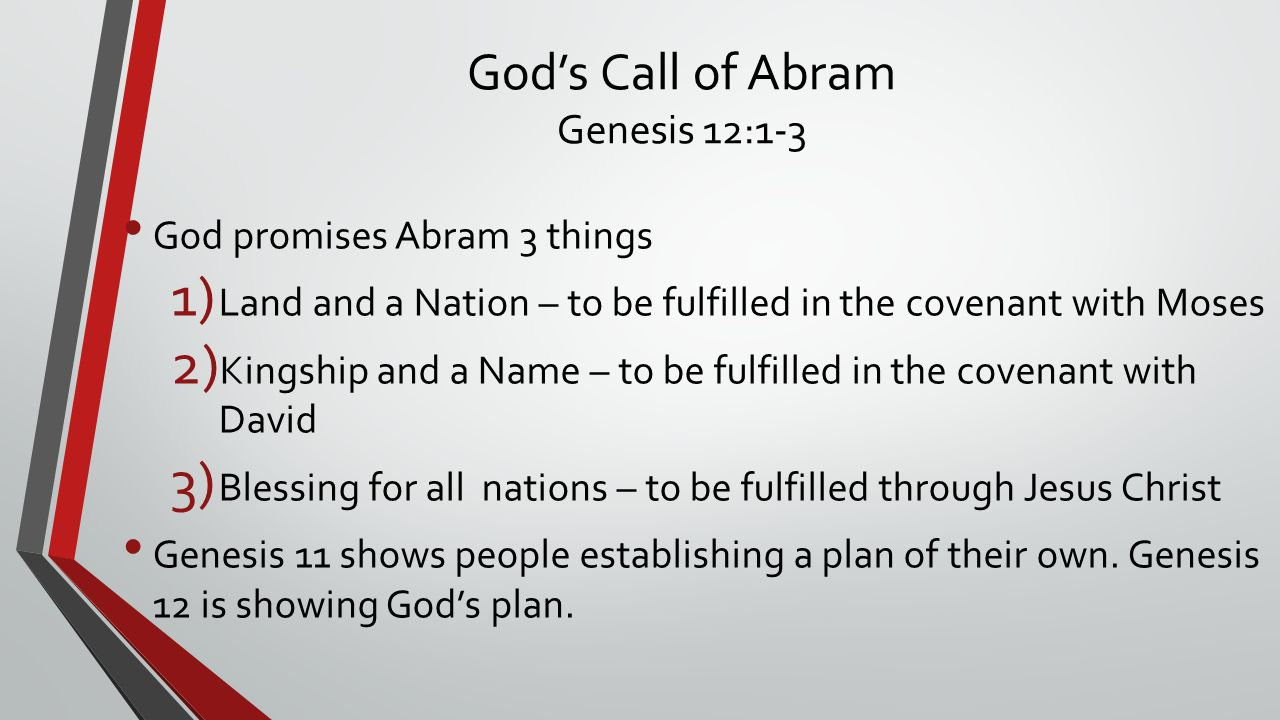God's Call of Abram Genesis 12:1-3