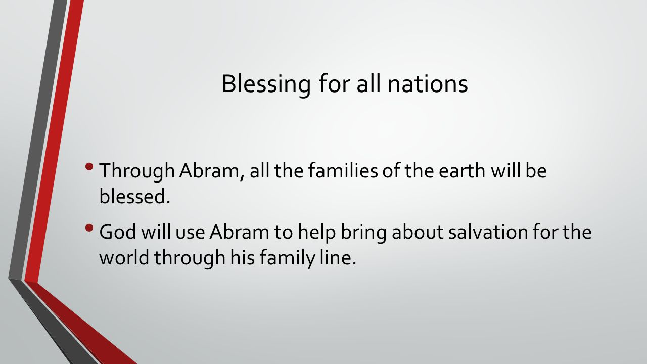 Blessing for all nations