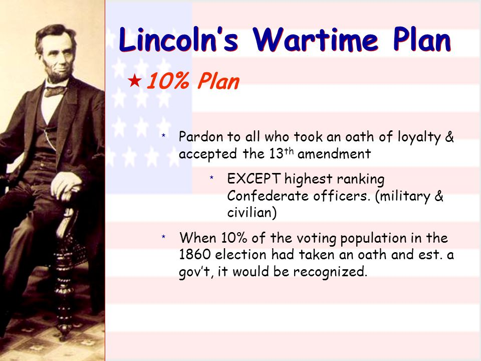 Lincoln's Wartime Plan