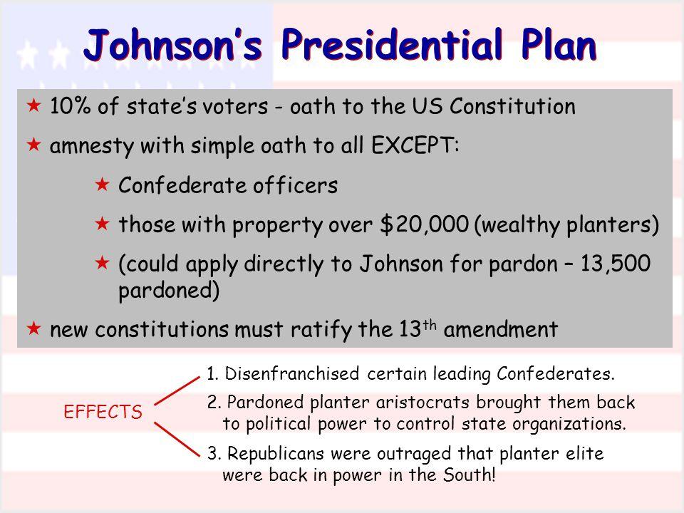 Johnson's Presidential Plan