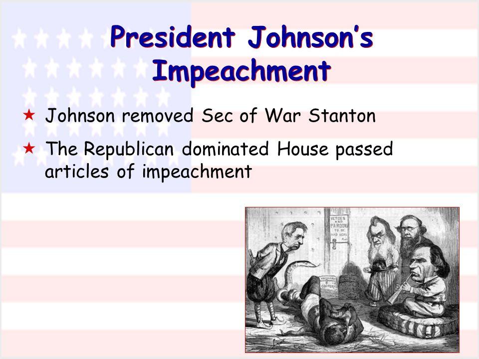 President Johnson's Impeachment