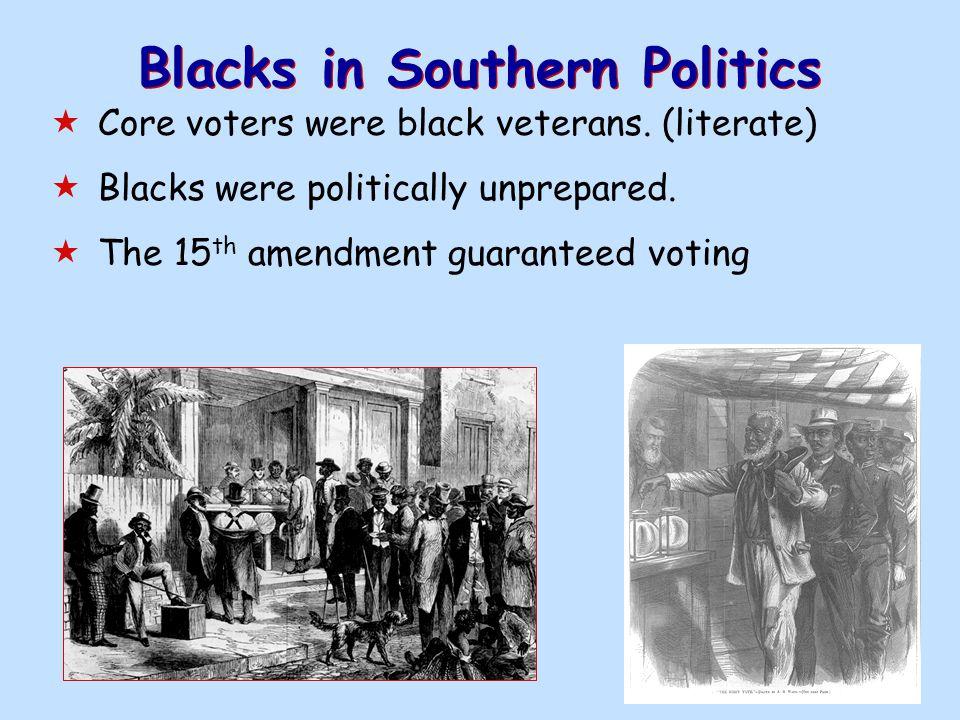 Blacks in Southern Politics