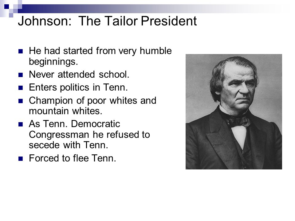 Johnson: The Tailor President
