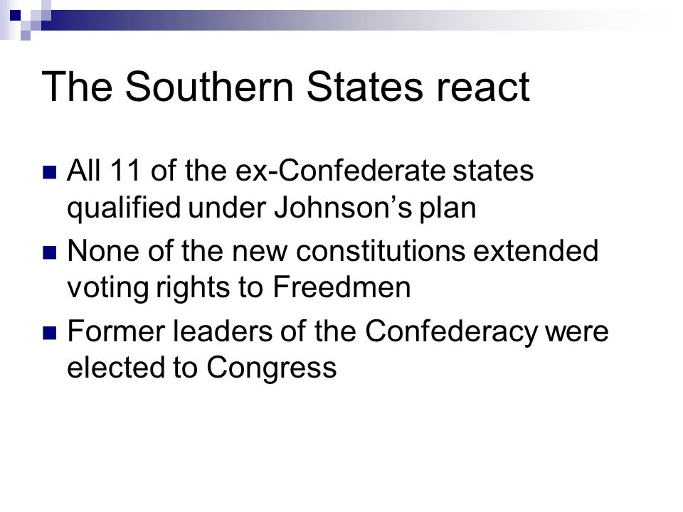 The Southern States react