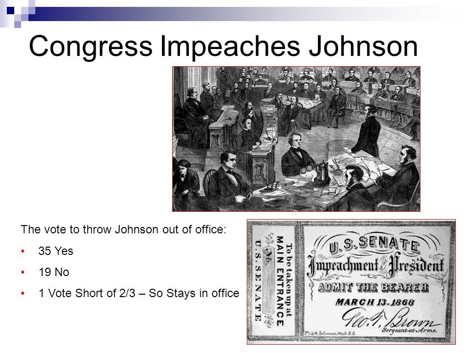 Congress Impeaches Johnson