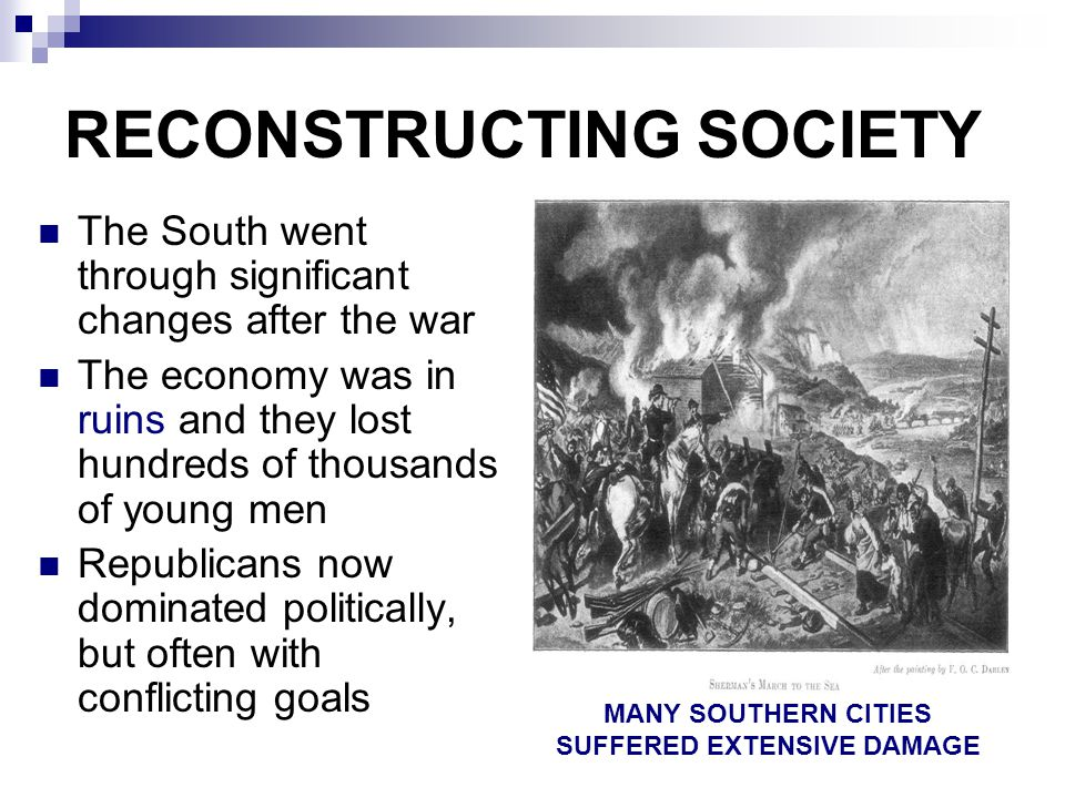 RECONSTRUCTING SOCIETY
