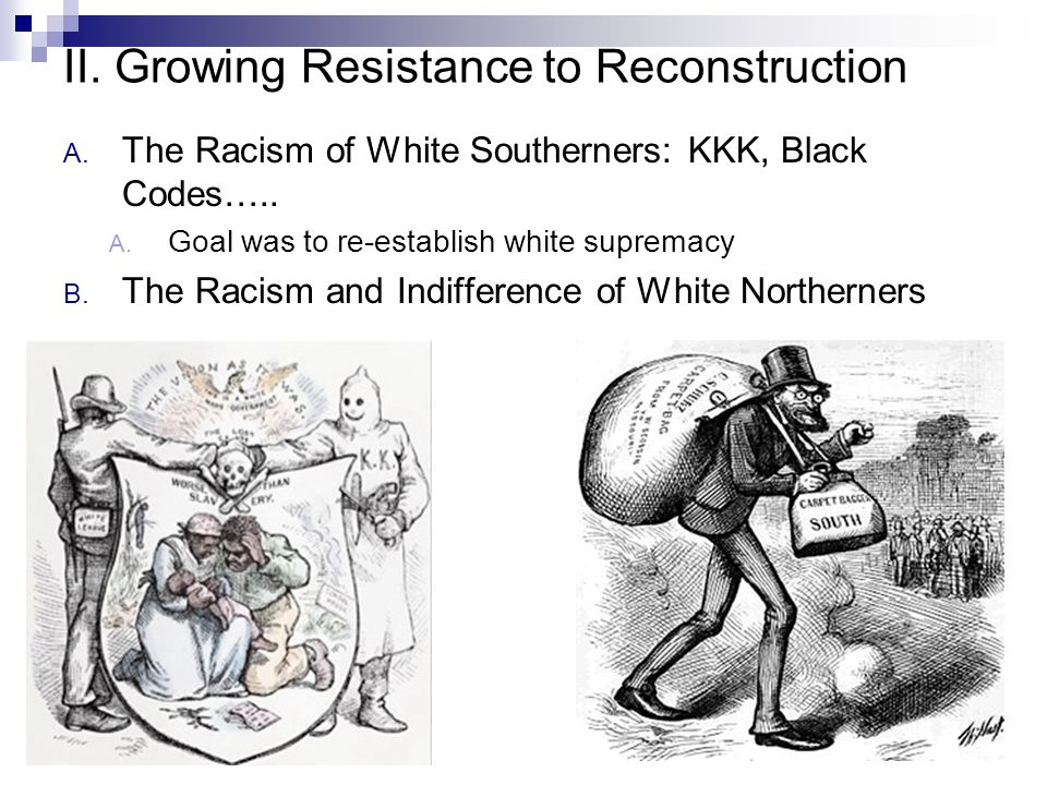 II. Growing Resistance to Reconstruction