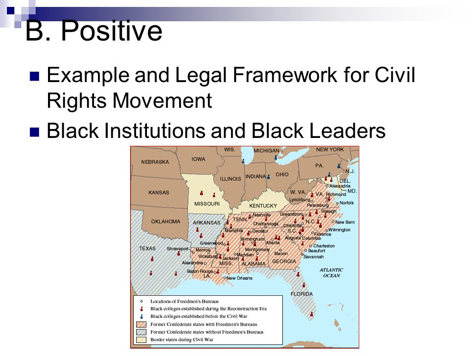 B. Positive Example and Legal Framework for Civil Rights Movement