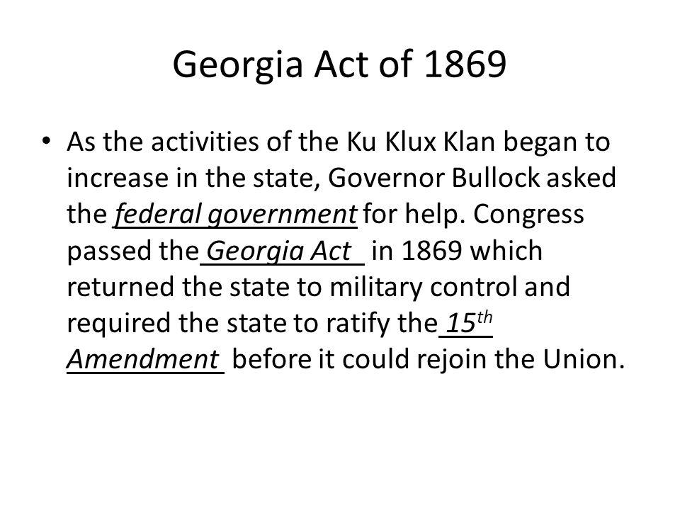 Georgia Act of 1869