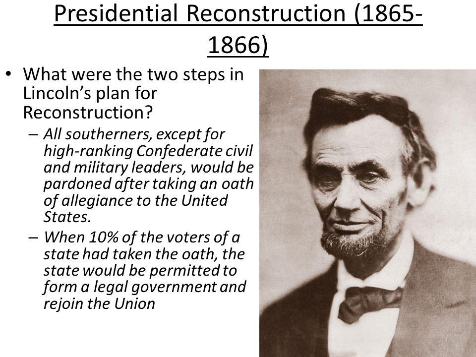 Presidential Reconstruction (1865-1866)