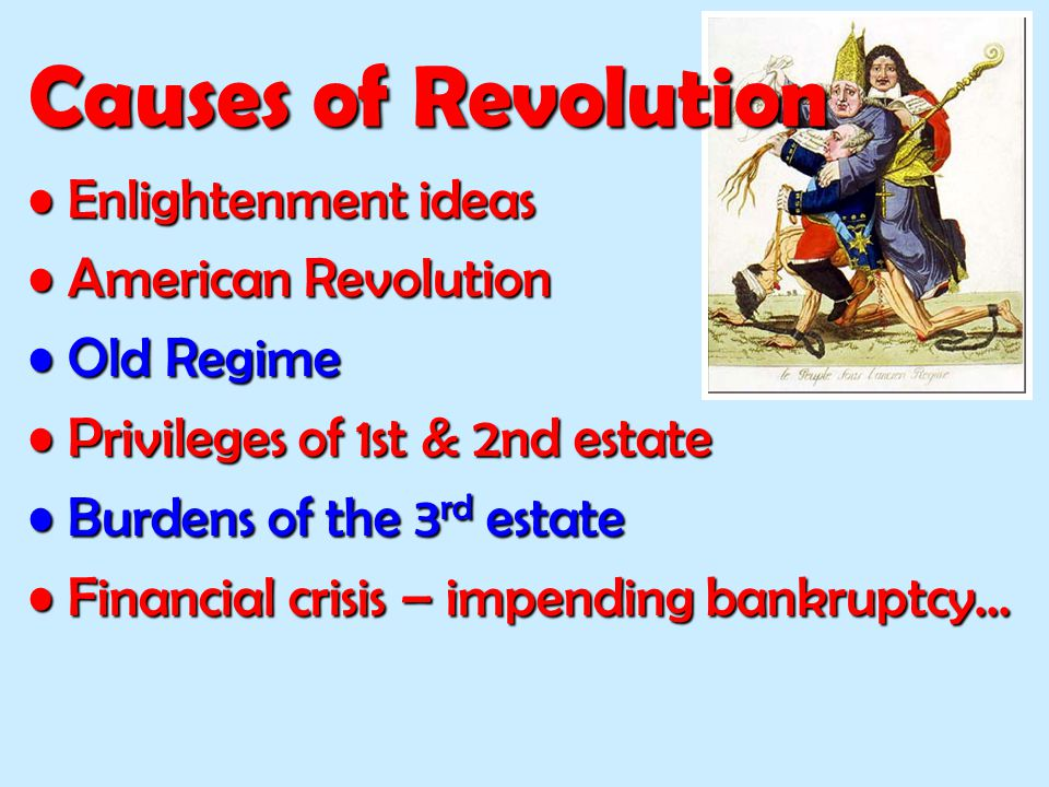 Causes of Revolution Enlightenment ideas American Revolution