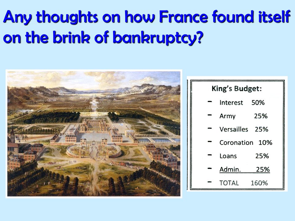 Any thoughts on how France found itself on the brink of bankruptcy