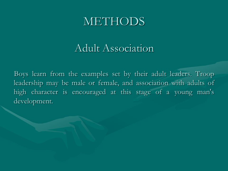 METHODS Adult Association