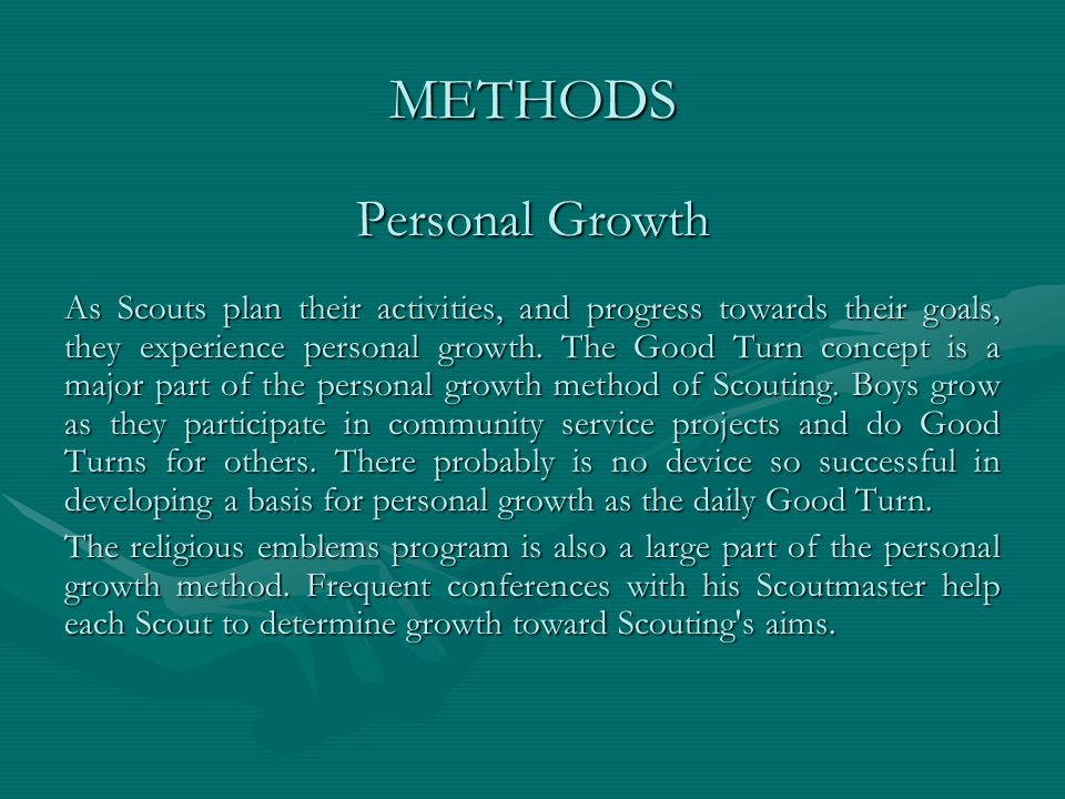 METHODS Personal Growth