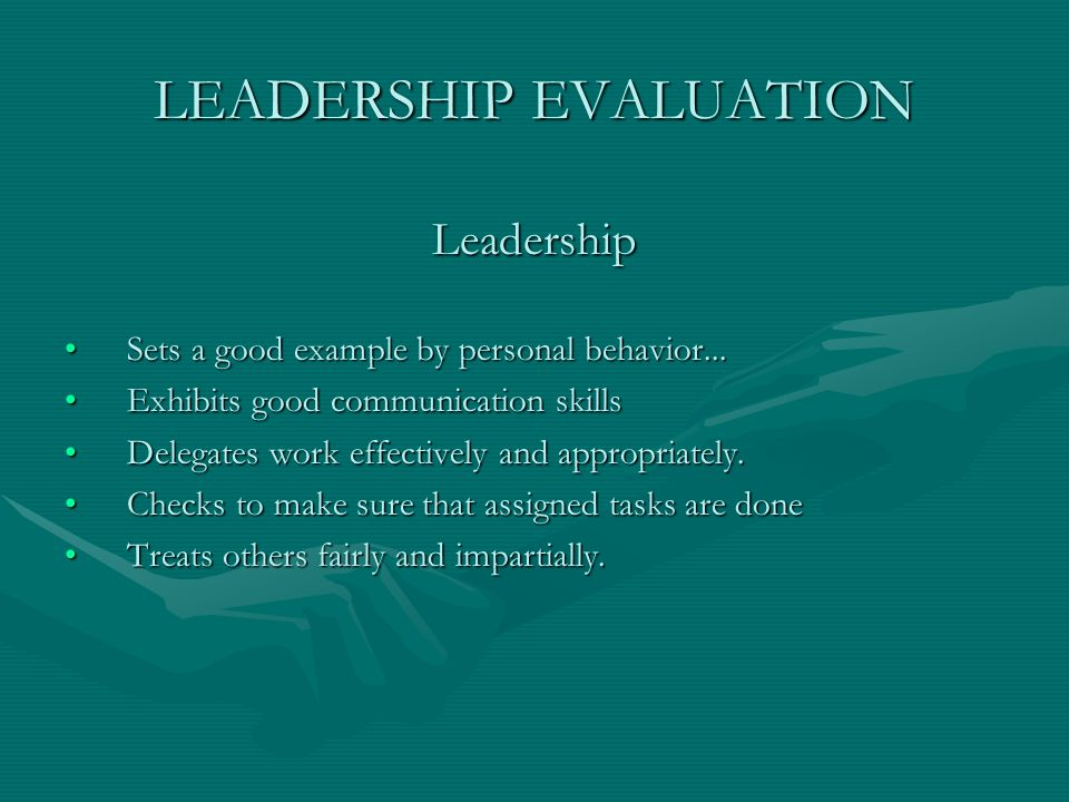 LEADERSHIP EVALUATION