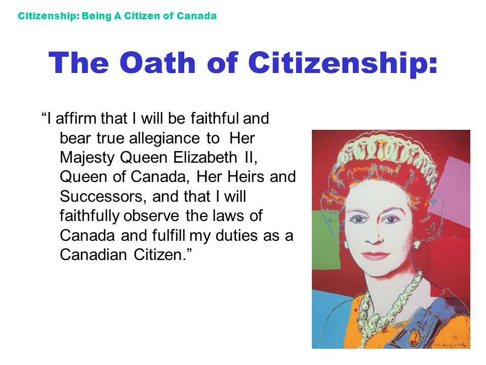 The Oath of Citizenship: